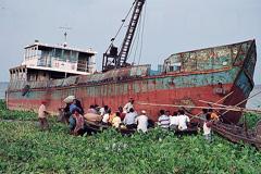 Un barco abandonado (foto WB)