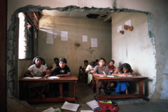 Una sala de clase rural (Foto WB)