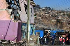 Valparaíso siniestrado (Foto Nelson Muñoz)