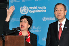 Margaret Chang y Ban Ki-moon (UN)