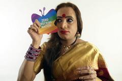 L.Narayan Tripathi, activista indio transexual (Foto AIDS)