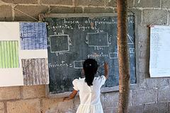 Una clase de un escuela rural  (Foto WB)