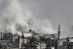 Bombardeo de Gaza (Foto ICCR)