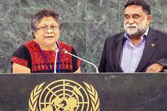 Líderes indígenas en la ONU (Foto ILO)