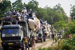 Convoy de migrantes de la OIM en Chad.