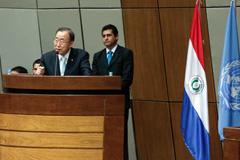 Ban Ki-moon en el Parlamento paraguayo (UN)