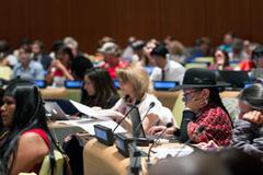 Delegado indígenas en el Foro (UN)