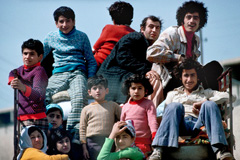Familias que huyen de la guerra (UN)