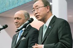 Fabius y Ban valoran el acuerdo de París (UN)