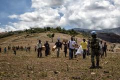Desplazados en Haití socorridos por la ONU (UN)