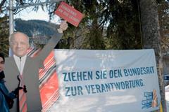 Protestas en Davos - Foto SF