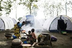 Campamento de refugiados Foto LDD