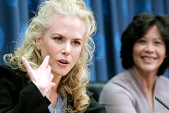 Nicole Kidman y Lakshmi Puri (Foto UN)