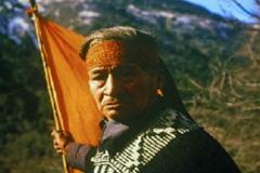 Dirigente mapuche en Chile (Foto archivo)