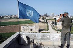 """Un """"casco azul"""" en el Líbano (Foto UN)"""