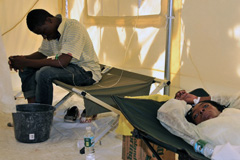 Centro de tratamiento en Haití (Foto PAHO)