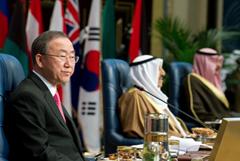 Ban Ki-Moon con delegaciones árabes (Foto UN)