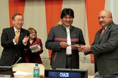 Evo Morales asume presidencia de los 77 (Foto UN)