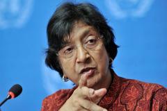 Navi Pillay, Alta Comisionada de la ONU (Foto J.M.Ferré)