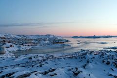 Atardecer en Illulissat, Groenlandia (Foto UN/ Garner)