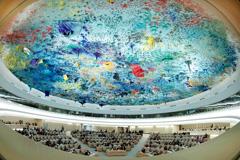 Vista de la Sala del Consejo D.H. (Foto UN/ Ferré)