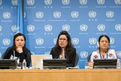 Mujeres dirigentes indígenas en la ONU (Foto UN)