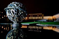 Nocturno en el Palacio de las Naciones (Foto UN)