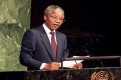 Nelson Mandela en la ONU (Foto UN)