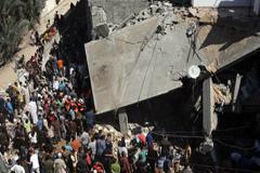 Efectos de los bombardeos israelíes (Foto UN)