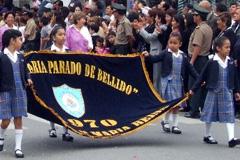 Alumnos de la escuela María Parado de Bellido