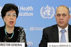 Margaret Chan y Roberto Morales (Foto UN)