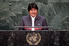 Evo Morales impulsor de la Conferencia (UN)