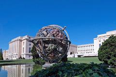 Vista del Palacio de la ONU en Ginebra (UN)