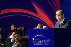 Ban Ki-moon en la India (Foto UN)