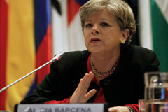 Alicia Bárcena directora de CEPAL (Foto Vera)