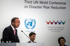Ban Ki-moon en Conferencia de Sandai (UN)