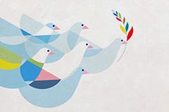 El emblema de la Paz Mundial (UN)