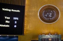 El resultado de la votación en la ONU (UN)