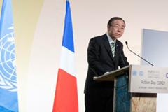 Ban Ki-moon en la reunión de Paris (UN)