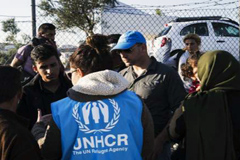 Refugiados sirios ayudados por ACNUR (UN)