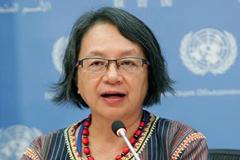 La relatora Victoria Tauli-Corpoz (UN)