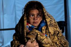 Niña emigrante de Siria (UN)