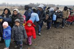 Refugiados sirios en busca de asilo (UN)