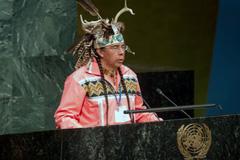 Tadodaho Sid Hill, jefe de la Nación Onondaga (UN)