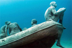 Monumento marino a los refugiados (OIM)