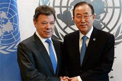 Santos y Ban Ki-moon (UN)