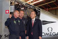 Piccard con Ban Ki-moon (UN)