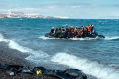 Refugiados del Mediterráneo (OIM)