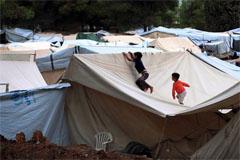Campamento de refugiados en Grecia (OIM)