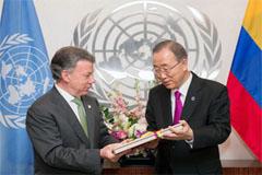 Ban y el presidente Santos (UN)